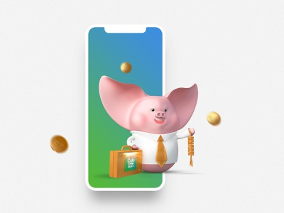 "ZaloPay - ""Tet"" Campaign 2019 - ""Heo Chiêu Tài"" Level 3 visual lunar new year illustration ui deisgn 3d character vietnam"