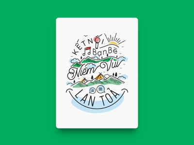 April / Manulife - Calendar 2019 vietnam illustration art graphicdesign calendar 2019 typography art healthy typography application calendar