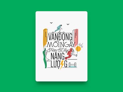 June / Manulife - Calendar 2019 calendar application typography healthy typography art calendar 2019 graphicdesign illustration art vietnam