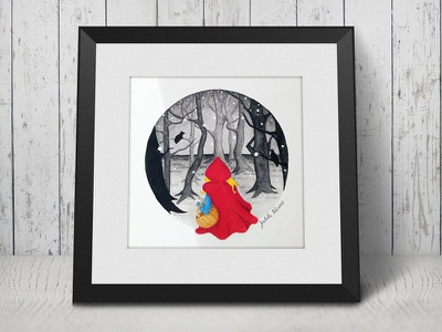 Little Red Riding Hood forest inktober children book little red riding hood