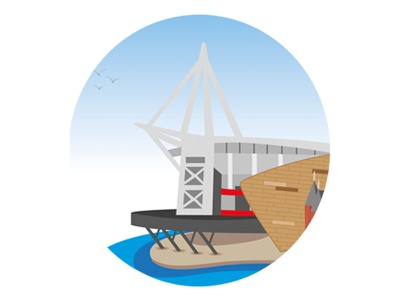 Cadiff Stadium illustration stadium