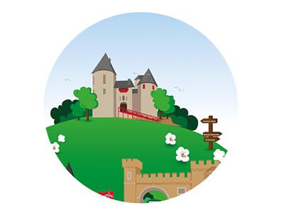 Castle Coch illustration castle