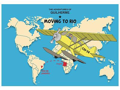 Tintín Artwork - Moving to Rio digital artwork illustrator tintín