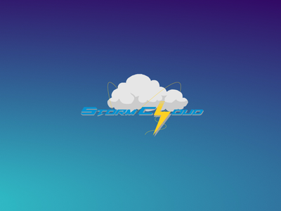 StormCloud logo branding minimal icon app ux ui vector logo illustration design
