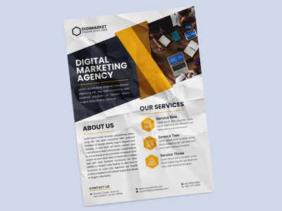 Digital Marketing Agency Flyer digital marketing agency marketing print design graphic design flyer design design