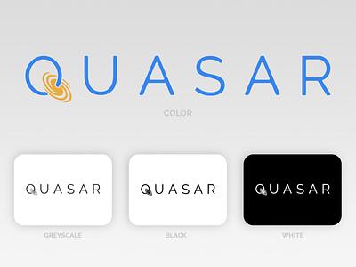 Quasar - A Rocket Ship Company graphic design branding logo