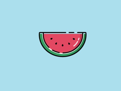 Watermelon minimal flat design illustration