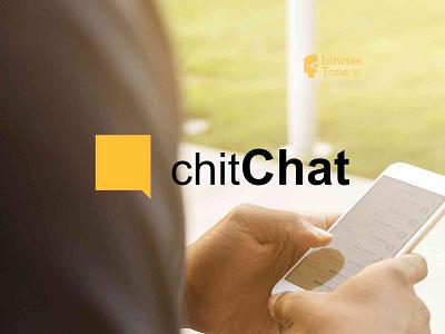 chitChat Logo Design social app chat inspiration inspire digital typogaphy new logo design creative logodesign logonew logos logoconcept typography graphicdesigndaily goldenratio logoinspire branding