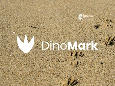 dinoMark Logo Design dinosaur ancient nature animal inspiration inspire typography logo new logo design creative logodesign logonew logos logoconcept typography graphicdesigndaily goldenratio logoinspire branding