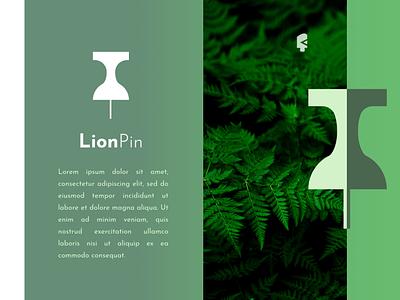 LionPin MockUp animal logo logotype logo design startup inspirations green nature animal logo creative logos logodesign logonew inspiration goldenratio typography logoconcept graphicdesigndaily logoinspire branding