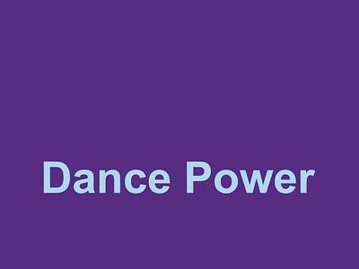 Dance Power vector typography design illustrator versatile logo brand logo versatile minimal graphic design flat