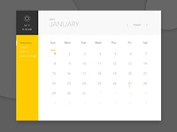 Minimal Calendar Concept