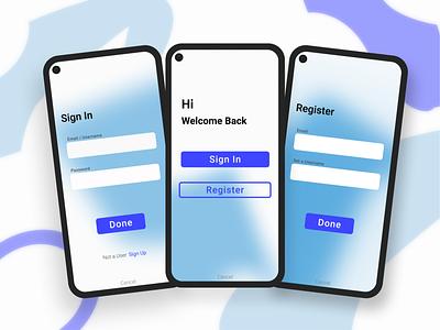Generic Log in / Register page iphone design android google pixel register blue signin sign up sign in signup design figmadesign figma app android app ux ui
