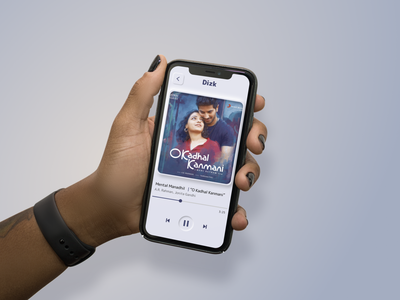 Dizk - Song player in all hands for all designers dailyuichallenge daily ui music player app music player music player ui player ui song music art music app music app design figmadesign figma ux ui app