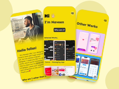 My Portfolio Page Design portfolio design yellow portfolio website portfolio page portfolio site portfolio typography daily ui branding logo app design ux ui design figma figmadesign