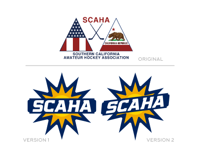 SCAHA league logo hockey