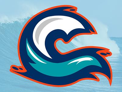 Wave2 sports monogram c wave