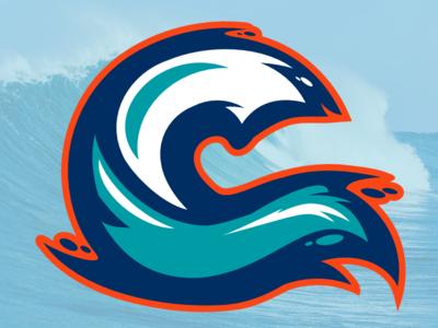 Wave3 wave logo hockey