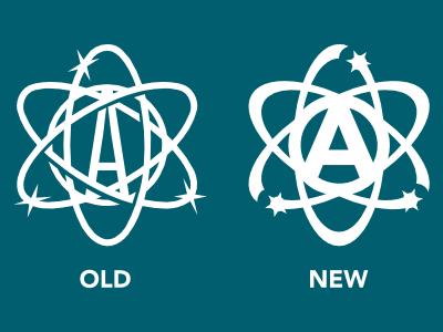 Personal Logo Rebrand atom logo