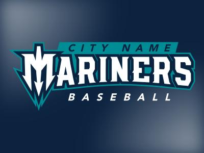 Mariners Wordmark wordmark baseball trident mariners