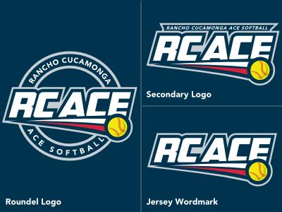 RC ACE Softball Logo - Version 2 logo league softball