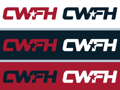 CWFH Proposal wordmark logo wrestling