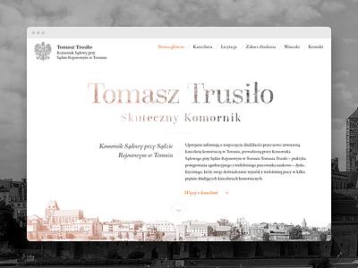 Tomasz Trusiło minimalist toruń web development web design bailiff minimalistic minimal clean simple