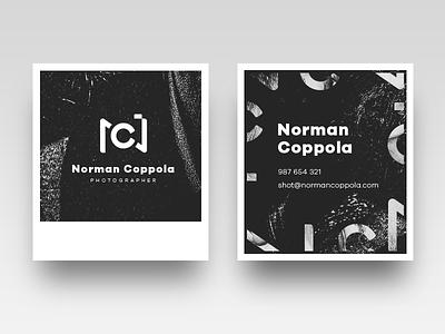 Norman Coppola logo & business cards logotype mark id identification logo photographer photography minimal simple
