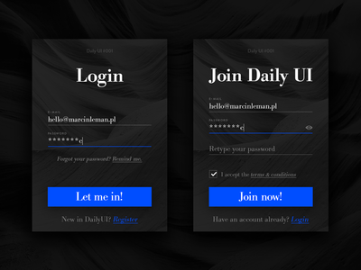 Sign Up form, Daily UI #001