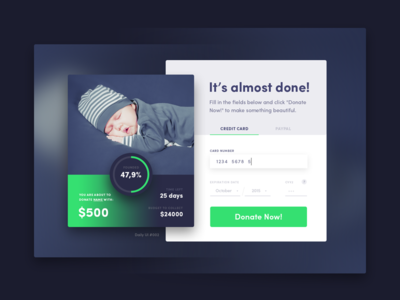 Credit Card Checkout, Daily UI #002