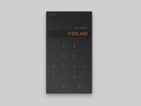 Daily UI #004, Calculator (with syntax highlighting!)