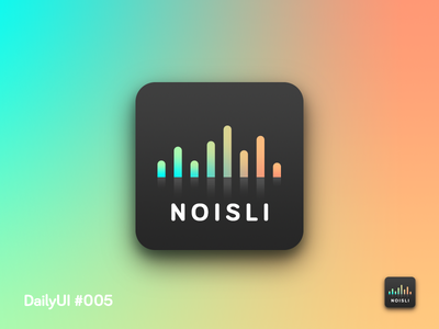 Daily UI #005, App Icon appicon nois wave icon icons sounds noisli 005 app daily-ui ui dailyui