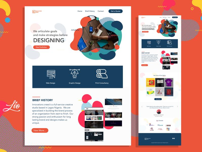 IC website UI design web webdesign ux ui
