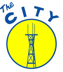 The City: Sutro Tower sanfrancisco sutro logo circle city yellow