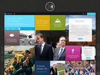 Homepage content concept for KILTR