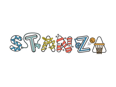 Stanza typography print for tshirts