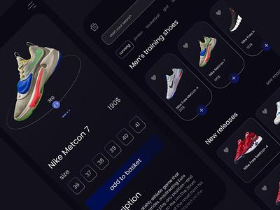 Shoes app UI concept ] shoes minimal app design app ux uiux ui design ui