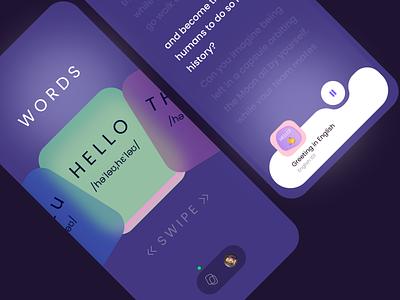 Takitalk (Language learning concept) learning language app app design uiux ui design ui