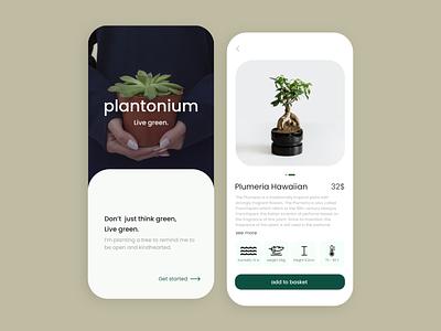 plantonium shopping plant ux minimal app design app uiux ui design ui