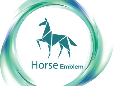 horse logo type illustrator logo graphic design vector typography flat minimal design branding