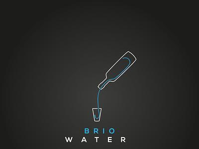 WATER icon type character typography logo graphic design vector minimal flat design branding