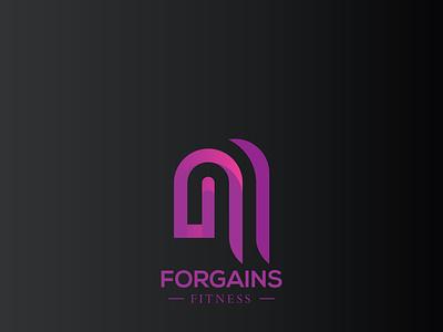 FORGAINS character vector illustration type graphic design typography minimal flat design branding
