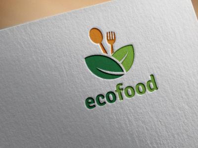 eco food illustration vector icon logo graphic design typography minimal flat design branding