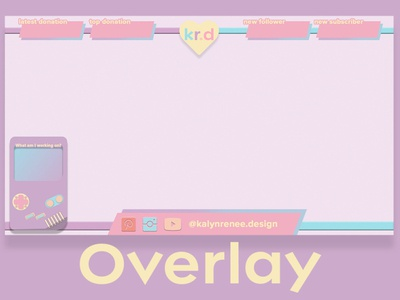 Twitch Overlay for KalynRenee.Design vector logo illustration design branding streaming overlay twitch