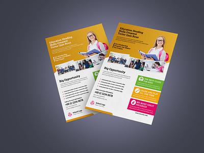 School Flyer Design Concept brochure design handout leaflet design leaflets professional flyer corporate flyer business flyer design branding flyer design