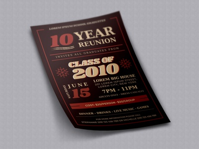 Reunion Flyer Design Concept flyer handout leaflet design event flyer corporate flyer business flyer design flyer design branding