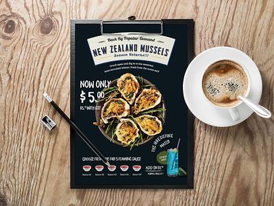 Restaurant Flyer Design Concept tri fold brochure brochure design business flyer design corporate flyer design handout leaflet design event flyer restaurant flyer flyer design flyer branding