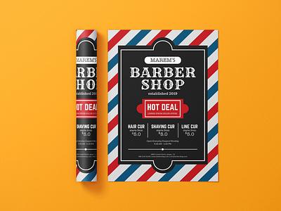 Barbar Shop Flyer Design Concept brochure design design corporate flyer leaflet design handout flyer design business flyer design branding