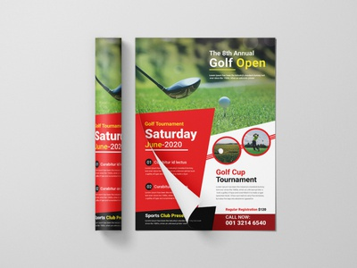 Golf Flyer Design Concept sports branding golf flyer sports flyer sports design design event flyer flyer brochure design corporate flyer leaflet design handout flyer design business flyer design branding