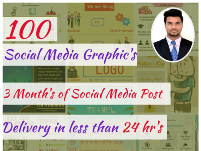 i will create 100 social media post infographic posts social media design fiverr graphic design design